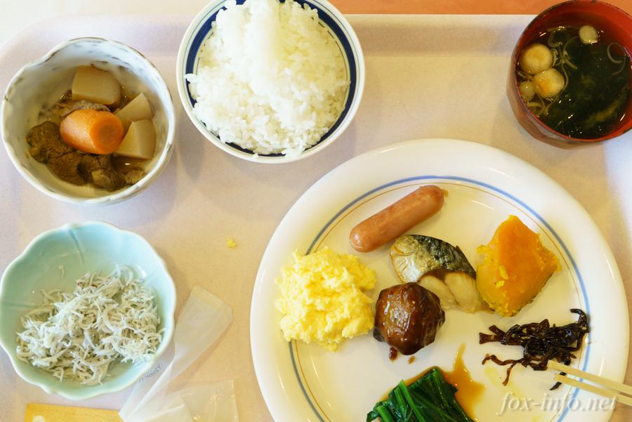 白石温泉 薬師の湯 朝食