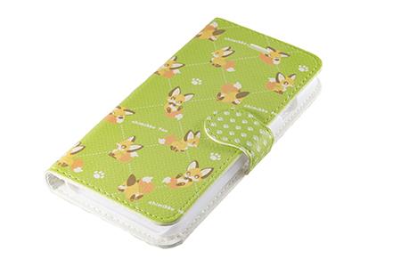 キツネスマートフォンケース「ちみっこキツネ」手帳型(iPhone6/6s用)