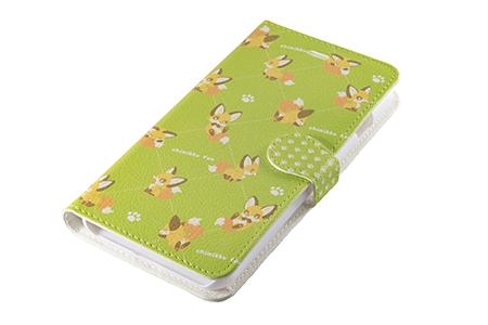 キツネスマートフォンケース「ちみっこキツネ」手帳型(iPhone6 Plus/6s Plus用)