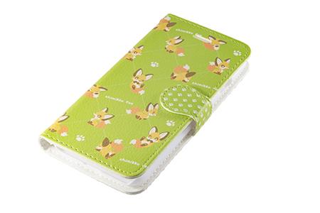 キツネスマートフォンケース「ちみっこキツネ」手帳型(iPhone7用)